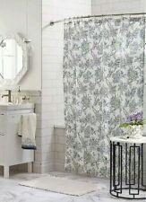 Threshold Jakobean Floral Shower Curtain ~ Gallery White/Blue/Green