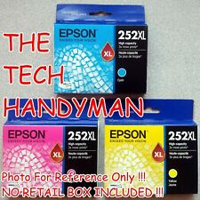 3-PACK EPSON GENUINE 252XL COLOR INK (NO RETAIL BOX)  (CLEARANCE)