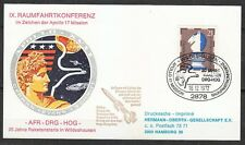 Germany 1972 postcard Space Apollo-17 Mission Aerospace congress