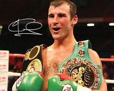 Joe Calzaghe Boxing Autographed Photographs