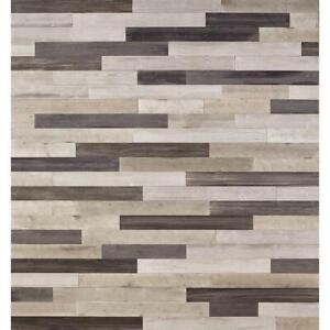 """DecoWall Gray 1/4 in T x 5 in W x 48"""" RL Peel & Stick Wood Wall Plank Accent"""