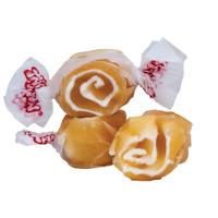 GOURMET CARAMEL SWIRL Salt Water Taffy Candy TAFFY TOWN 1/4 LB  to 10 LB BAG