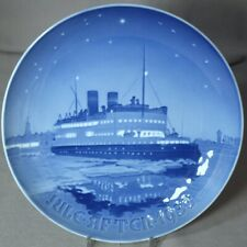 Bing & Grondahl 1933 B&G Christmas Plate - Korsor-Nyborg Ferry - Excellent!