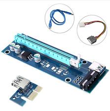 Tarjeta vertical PCI-E 3x 60CM USB 3.0 1x a 16x PCIe adaptador de tarjeta Express Bitcoin Litecoin
