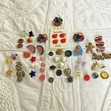 Huge Lot Vintage Novelty Button Horse Firetruck Heart Flower Apple Star Country