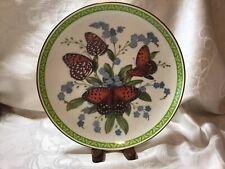 """Franklin Mint """" Butterflies Of The World """" Regal Fritillary"""" Plate 24k Gold Trim"""