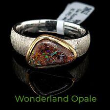 De Haute Qualité Opale Boulder Anneau gr.58