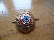 INSIGNE / COCARDE CHAPKA OU CASQUETTE MILICE MARTEAU ET FAUCILLE URSS CCCP