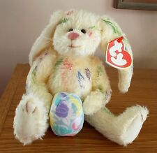 Ty Attic Treasures Rainbow Bunny Georgia Holding Easter Egg With Tag