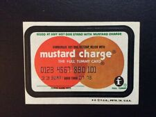1973 Wacky Packages 4th Series Mustard Charge