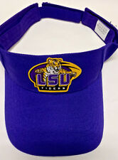 LSU Tigers Heat Applied Applique on Purple visor cap hat! Adjustable!