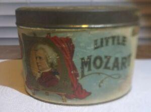 Antique Little Mozart Cigar Tin 5 Cents Factory No. 1054  2nd Dist. New York