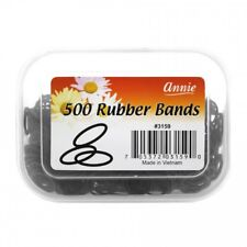 "ANNIE 500 COUNT SMALL RUBBER BANDS 1/2"" BLACK #3159 ELASTIC HAIR TIES"
