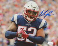 ELANDON ROBERTS NEW ENGLAND PATRIOTS FOOTBALL PHOTO SIGNED 8X10 AUTOGRAPHED COA