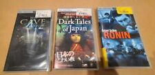 Lot of 3 PSP UMD Movies - Ronin, (Robert DeNero), Dark Tales of Japan, The Cave