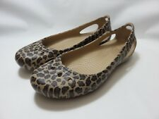 CROCS Animal Print Rubber Flats Women's Size 10 Excellent Used Condition