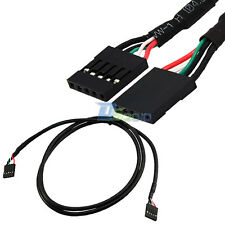"""1M 3 Ft Dupont 5pin female to female jack 0.1"""" USB header PCB motherboard cable"""