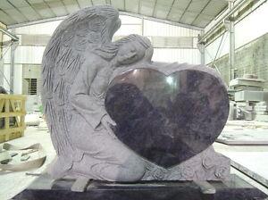 Grabstein, Grabmal, Granit, Herz, Engel