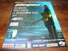 PLEYMO - PUBLICITE CONCERT NOVEMBRE 2002 !!!!!!