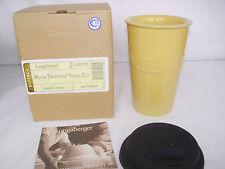 Butternut Yellow Travel Mug Cup Hot Cold Longaberger 10 oz New Last One