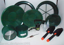M3 Green Mini / Large Gold Classifier Screen & Gold Pan Panning Kit