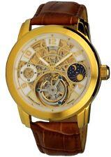 Lindberg & Sons Herrenuhr echter Minuten-Tourbillon Handaufzug-Uhr Glasboden