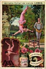 6 Cards c1898 Variety Acts Jeux de Cirque  TRAPEZE Jongleurs Acrobat Circus