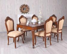 XXL Sitzgruppe Mahagoni Sitzgarnitur Tisch & 6 Stühle Antik Essgruppe Massivholz