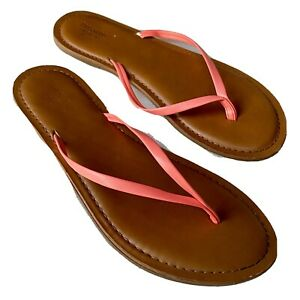 MOSSIMO Slippers Zori Flip Flops Womens US 7 Pink Brown Non-Marking PreOwned GUC