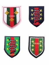 4pcs Bee Snake Badge Fashion Embroidered Iron On Patch Appliqué DIY Polo Shirt