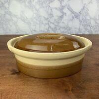 Vintage La Bourguignonne Rustic Terrine Casserole Dish Made in France - size 2