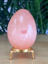 Orange Selenite Egg W/Stand Selenite Crystal Gemstone Specimen Reiki Chakra Heal