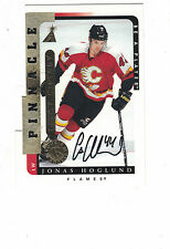 1997 Pinnacle Link DieCut In Person Autograph Jonas Hoglund Calgary Flames COA