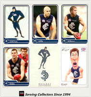 2010 Herald Sun AFL Trading Card Base Card Team Set Carlton (14)