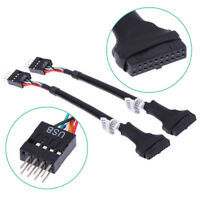 USB 3.0 20-Pin Motherboard Header Female To USB 2.0 9-Pin Male Adapter Cable HQ