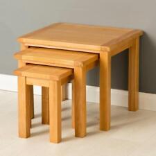 Poldark Oak Nest of Tables / Light Oak Nested Tables / Small Oak Side Tables