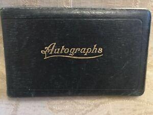 Antique Autographs Album Including Pencil, Pen, Ink, Watercolour Drawings - 1930