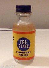 Vintage Tri-State Furniture Polish Sample Bottle, 1940 or 50's Rare Near Mint
