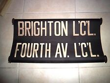 "NYC SUBWAY ROLL SIGN 24"" BRIGHTON BEACH BROOKLYN FLATBUSH FOURTH AVE SUNSET PARK"