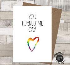 GAY ENGAGEMENT WEDDING CARDS SAME SEX Comedy Funny Banter Congratulations / FL