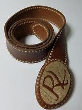 Ralph Lauren Vintage Contrasting Stitching Brown Leather Belt Size  M