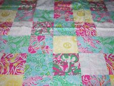 508bec656fac89 LILLY PULITZER FABRIC*MAINE STATE PATCH*LOBSTER*JELLYFISH*YELLOW PINK BLUE*