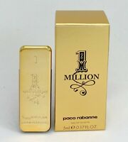 ONE MILLION  PACO RABANNE EAU DE TOILETTE FOR MEN 5 ML. 0.17 FLOZ. MINI PERFUME