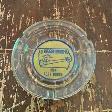 Vintage 1964 IWBA Bowling Glass Ashtray Fort Dodge Iowa