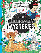 Disney Adult Colouring Book French By Number Snow White Bambi Aladdin Colour