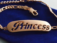 Princess Name Bracelet - 18K Rose Gold Plated Jewelry Personalized Gift For Her