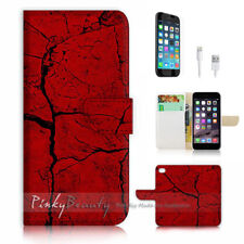 ( For iPhone 8 ) Wallet Case Cover P1105 Red Rock