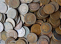150x INDIAN HEAD PENNIES CENTS 1c CENT MIXED FULL DATES CIRCULATED COINS ROLLS
