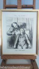 """Gravure chez """" le dentiste"""" Honoré Daumier"""
