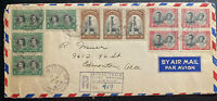 1939 Royal Train Post Office Canada Registered Cover To Edmonton Royal Visit